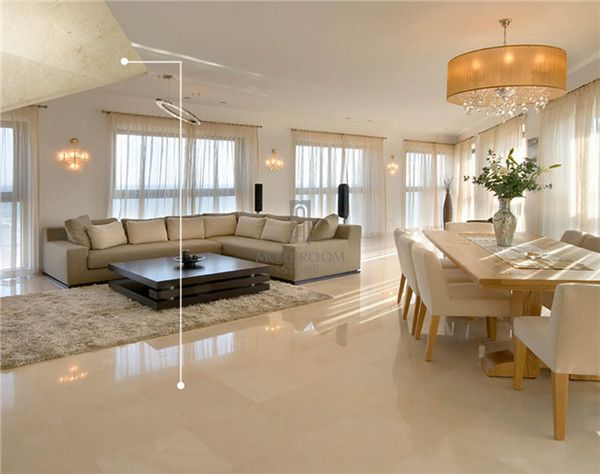 Spain Pinoso Crema Marfil Marble Tiles Slabs Beige Floor Polished Flooring Tile For Living Room Pa