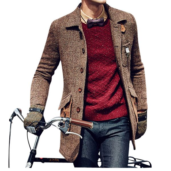 Casual Coffee Brown British Styled Tweed #Mens Wool #Pea #Coat #peacoatmonkey Get Discount price http://www.peacoatmonkey.com/peacoatmonkey-wool-overcoat-collection/peacoats-instyle8898934899/essential-fashion/pea-coats-for-men-collection-c-998349866.html