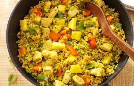 recept beeld: Hollandse kipkerrie met witte rijst