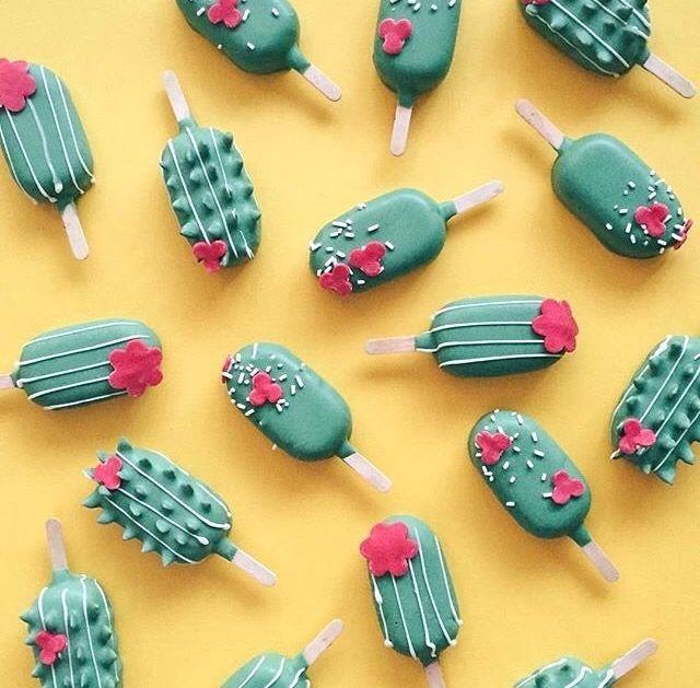 Cactus Icecream pattern background