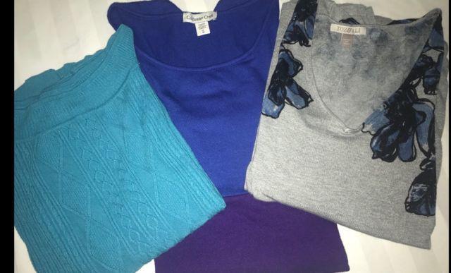 Lot of 3 Woman's Tops Shirts Coldwater Creek Dress Barn Plus Size Roz&Ali | eBay
