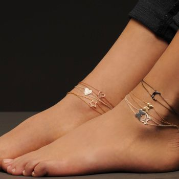 {anklets by Alexa Leigh} moon, butterfly, heart, star