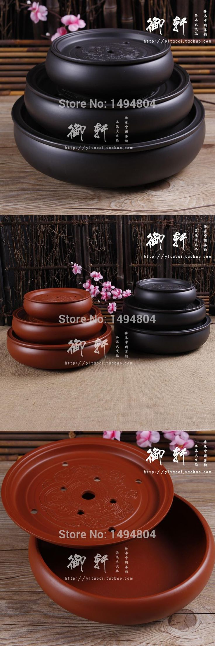 [Visit to Buy] Tea Tray Handmade Yixing Redware(purple clay) Ceramic Tea Sets, Traditional Chinese Tea Tray suit A,B,C,D,E,F Can be Chosen #Advertisement