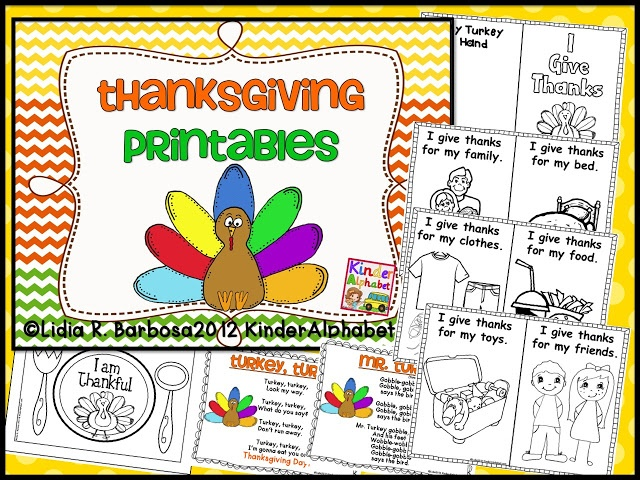 Free Thanksgiving mini-book and songs! (There's a link in the post to a Spanish version too!)