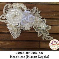 Jual Hiasan Kepala Bunga Kain & Manik Handmade - JD03-HP001-AA - Joyce Craft Collection | Tokopedia