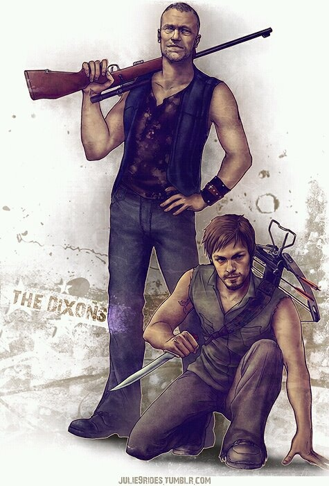 The Walking Dead. Daryl and Merle Dixon.                                                                                                                                                      More