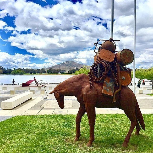 Instagrammer @world_explorer2016 took this snapshot of Contour 556, a sculpture festival along the southern shores of Lake Burley Griffin. Fifty local, national and international artists have created public works, including performance, soundscape, projection, light and traditional sculpture, that respond to the layers of Canberra's history for this outdoor event running until 13 November. #visitcanberra #onegoodthingafteranother