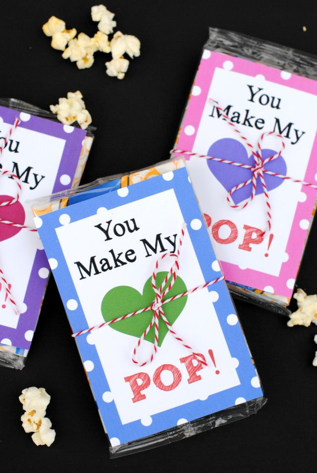You Make My Heart Pop! Free Printable Valentine and Idea