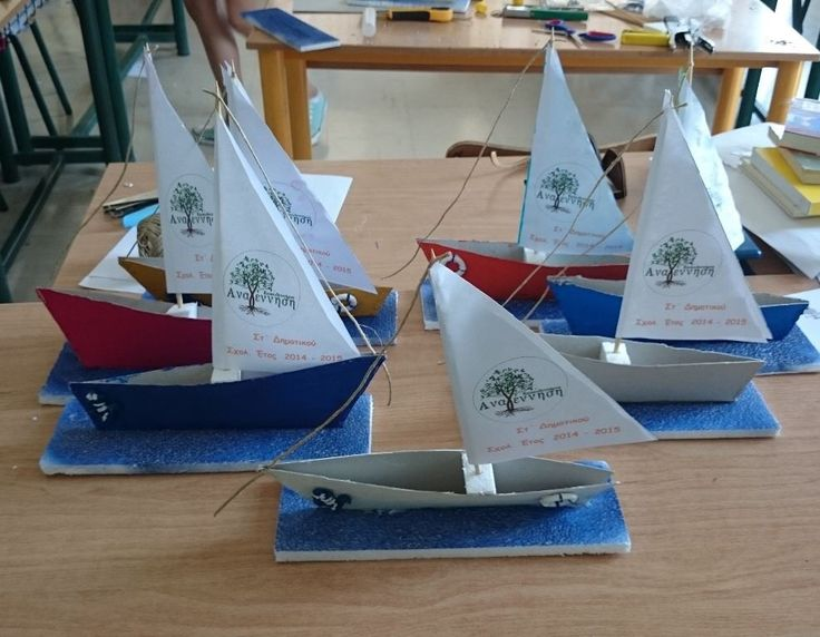 Boat from paper, toothpick and polystyrene - Καραβάκι από χαρτόνι, οδοντογλυφίδα και φελιζόλ