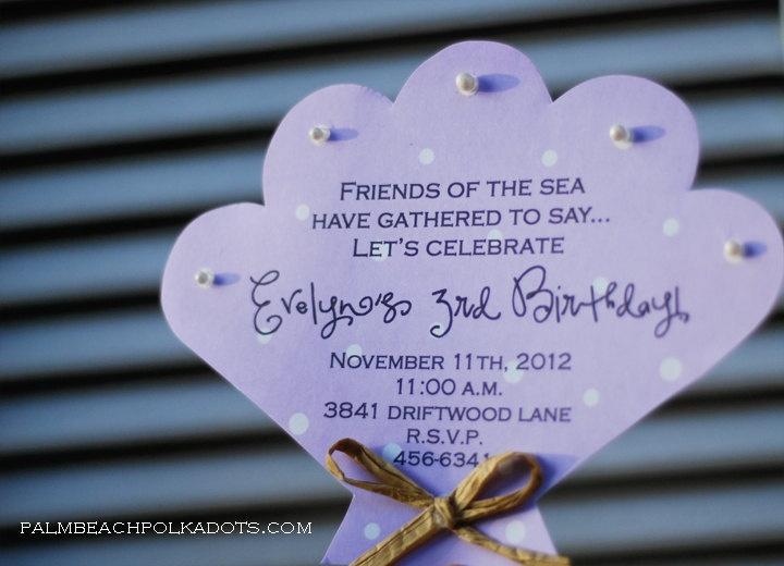 Under the Sea Starfish Wand Birthday Invitation. $2.25, via Etsy.