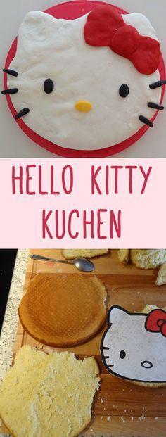 Hello Kitty Fans aufgepasst! Dieser Kuchen wird euch umhauen! Rezept und Anleitung auf www.gofeminin.de/kochen-backen/hello-kitty-kuchen-d60105c671162.html #backen #rezepte #kindergeburtstag #hellokitty #torte #marzipan