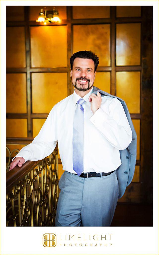 Wedding Day, Groom, Groom Poses, Grey Suit, Lavender Tie, Don Vicente de Ybor Historic Inn, Limelight Photography, www.stepintothelimelight.com