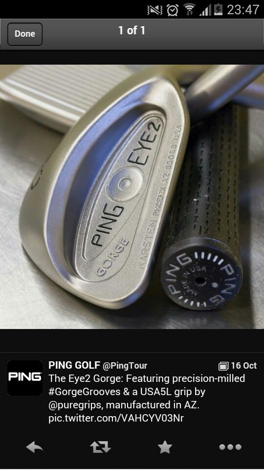 Ping 'gorge' wedges 2014