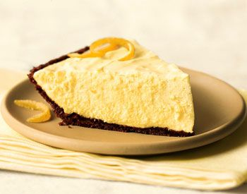 Don't tell Mom (or Granny)!        Lemon Chiffon Pie with Gingersnap Crust Recipe  at Epicurious.com