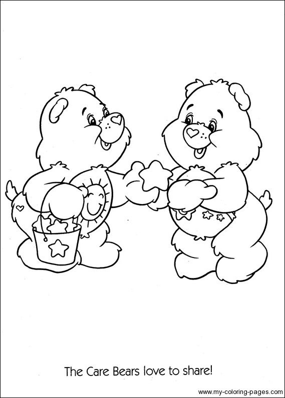 Colouring Sheets Coloring Pages Books Bear Gallery Care Bears Printable Craft Patterns Cartoon Characters Precious Moments