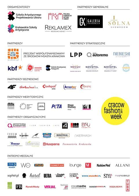 Our partners during this years edition of Cracow Fashion Week. :) #cracowfashionweek #fashionweek