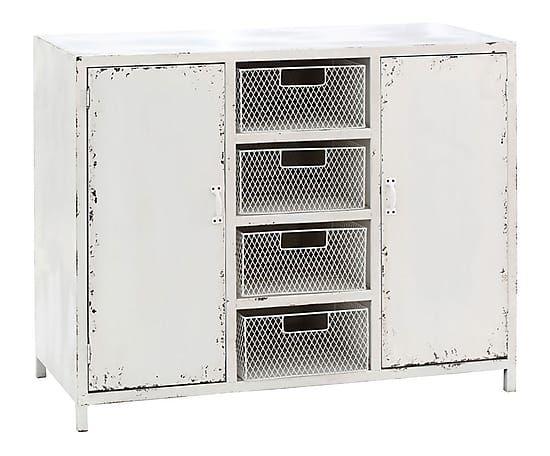 Mobiletto a 2 ante e 4 cassetti in legno 90x72x40 cm (cucina)