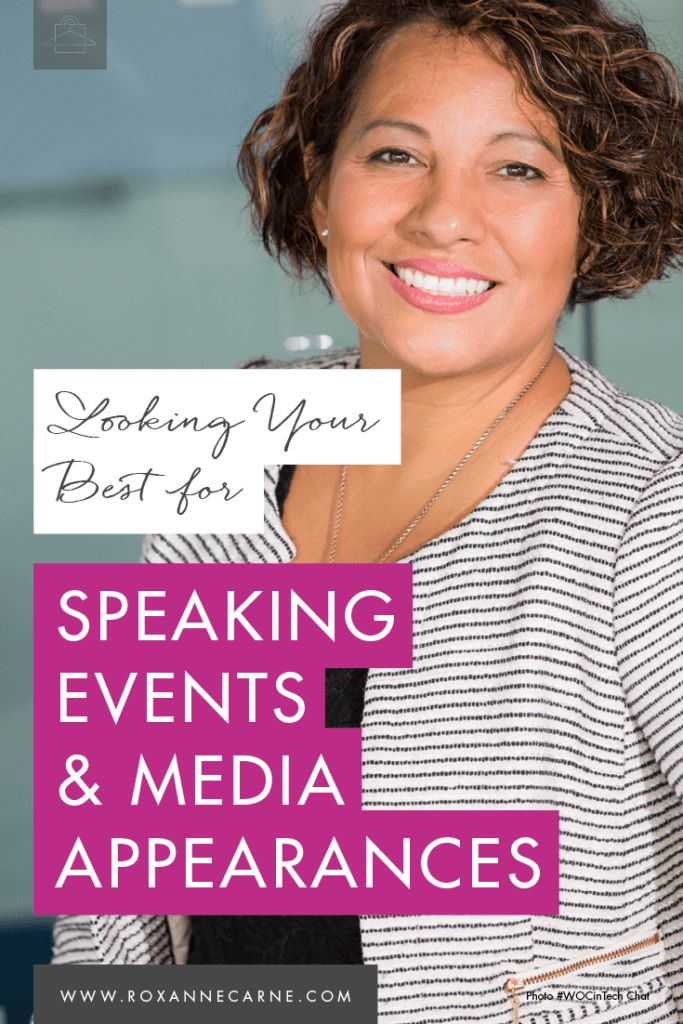 Learn top tips on looking your best for speaking events & media appearances! // Roxanne Carne - Personal Stylist