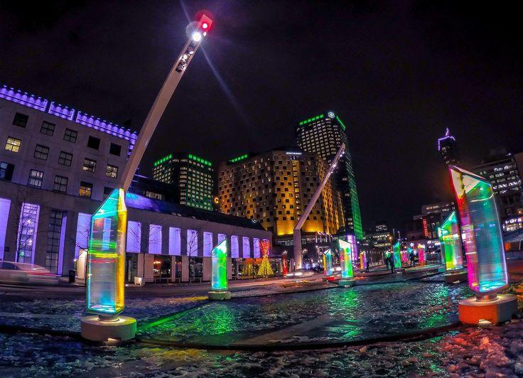 Explosion de lumières au quartier des spectacles de Montréal 2015 / Ligh...