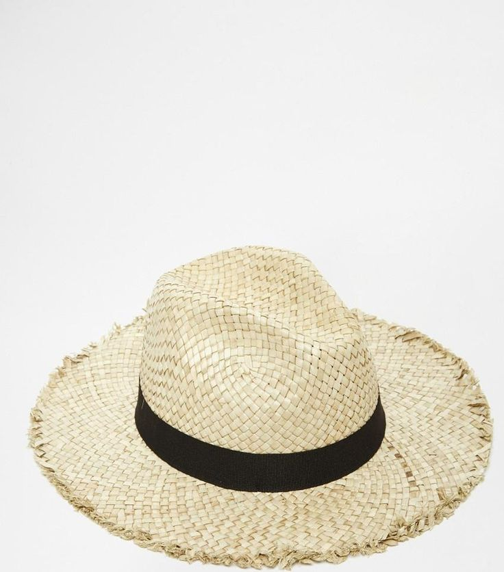 Vanessa Hudgens wearing Catarzi Straw Hat with Raw Edge Brim and Contrast Black Band