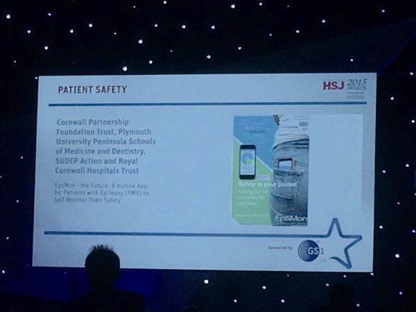 Epilepsy Self-Monitoring App named as finalist at HSJ Awards