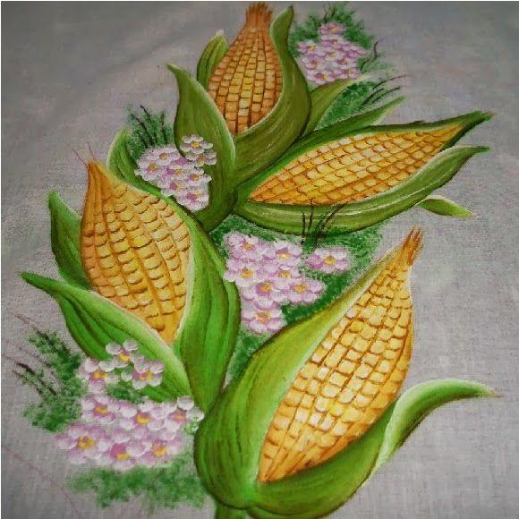 pintar milho em tecido - Pesquisa Google