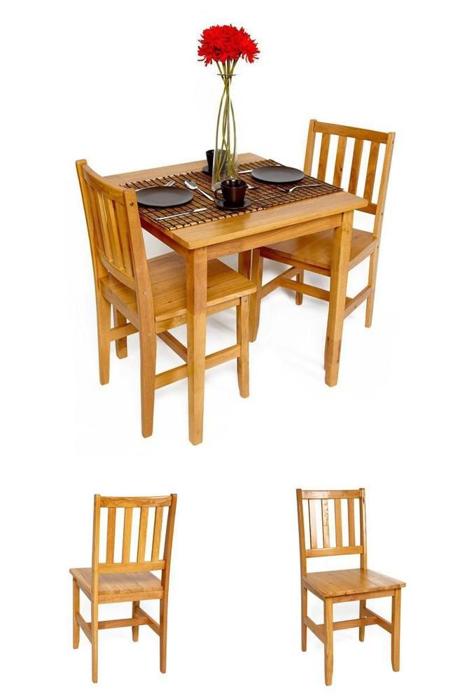 Details About Kitchen Table Chairs Set Small 2 Seater Square Solid