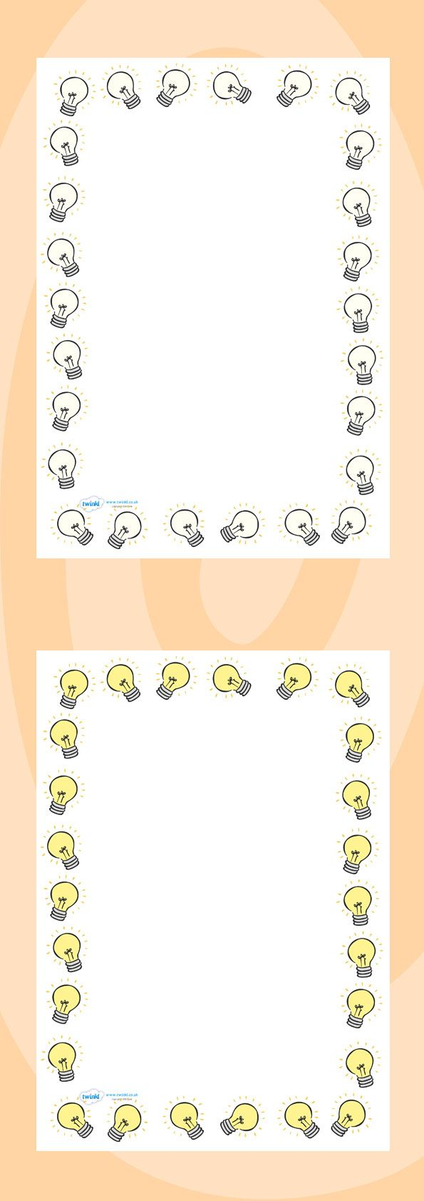 Little loops double page border free page borders - Twinkl Resources Light Bulb Page Borders Thousands Of Printable Primary Teaching Resources