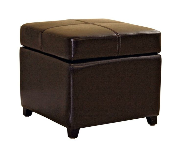 Make Your Furniture Do Double Duty With This Baxton Studio Leather Storage  Cube Ottoman.