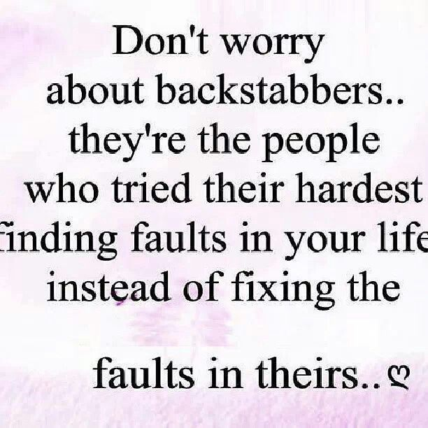 Quotes About Backstabbers Family. QuotesGram