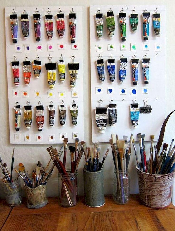 60 Most Popular Art Studio Organization Ideas and Decor