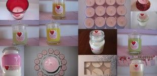 Custom made soy wax candles. Glass jars new and recycled, tea cups and tea lights.