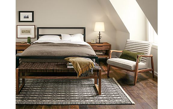 Parsons Bed with Callan Chair Bedroom - Modern Bedroom Furniture ...