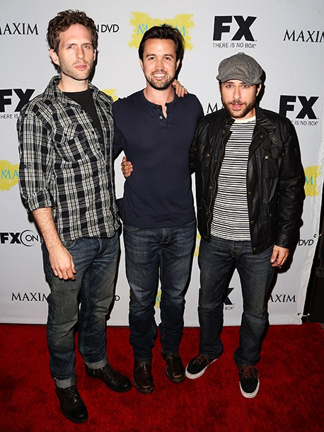 Part of the gang: Glen Howerton, Rob McElhenney and Charlie Day