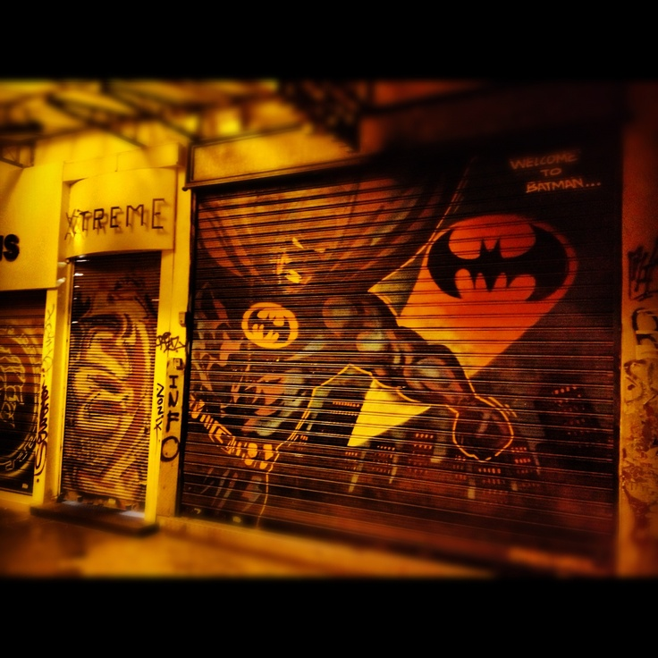 Nightlife Graffiti. Batman.