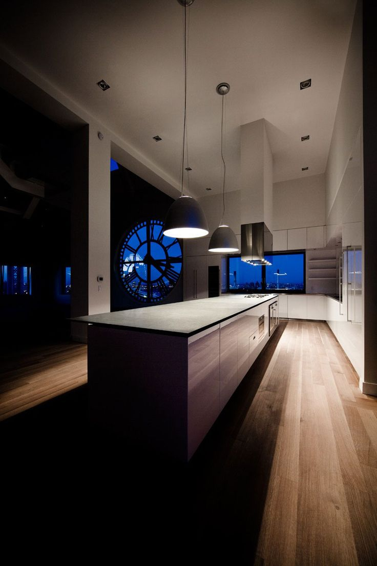 Minimal designed this stunning kitchen inside a Clock Tower apartment in New York City