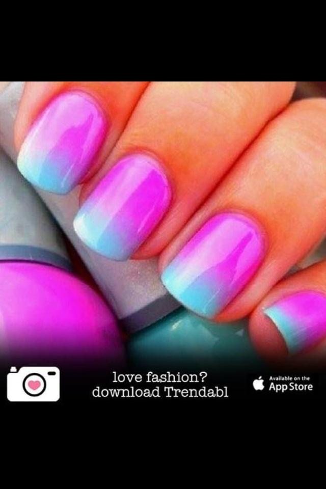 Purple & blue nails