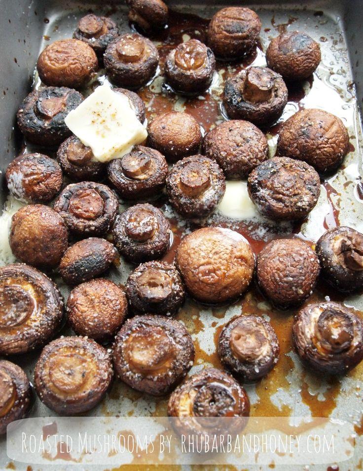 Soy and Worcestershire Roasted Mushrooms {www.rhubarbandhoney.com}