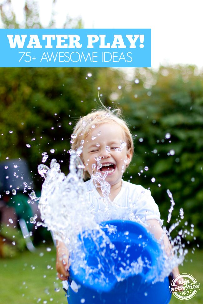 Over 75 Water Play Activities from @hollyhomer