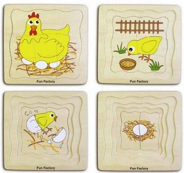 Layered chicken puzzle