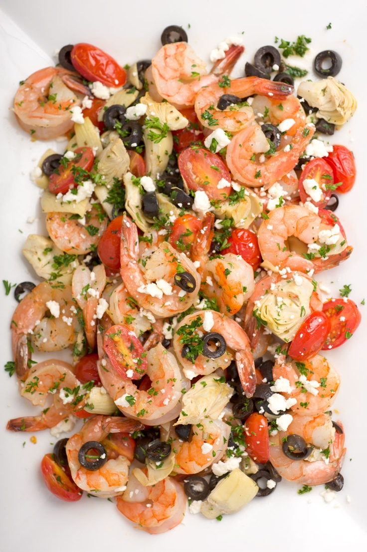 Roasted Greek Shrimp with Orzo