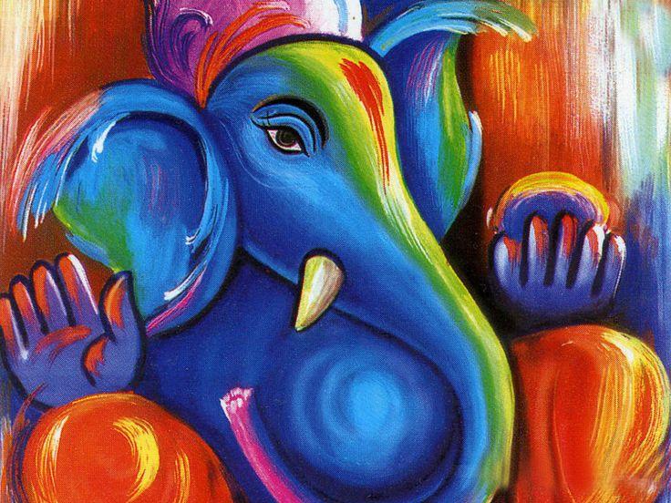 Painting Ganesh Ji