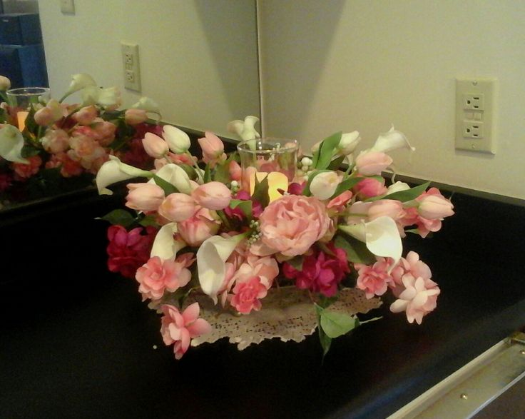 Floral Arrangement Spring Summer Centerpiece Elegant Luxury Real Touch Flower SHIPPING INCLUDED Home Dcor By GiftsByW