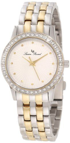 Lucien Piccard Women's 11696-SG-22S Monte Velan White Textured Dial Two Tone Stainless Steel Watch ** Find out more about the great product at the image link.