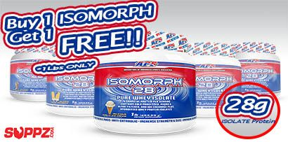 28g of pure whey protein isolate per serving! http://suppz.com/aps-isomorph-28.html (Promo is for 1lb size only, please select your freebie at checkout)