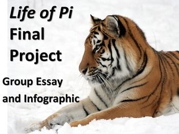 Life of Pi Closing Project/Assignment - Group Essay Writing and Infographic-This is a final project to be used at the conclusion of a reading of Life of Pi. It requires students, in groups, to write an essay and create an infographic in response to an essential, thematic question. $3.50