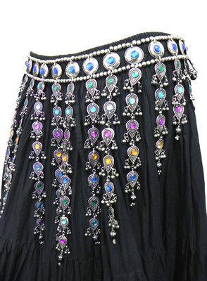 Kuchi Tribal Belt Belly Dance Hip Skirt Scarf Jewelry Ethnic Gypsy ATS Boho New | eBay