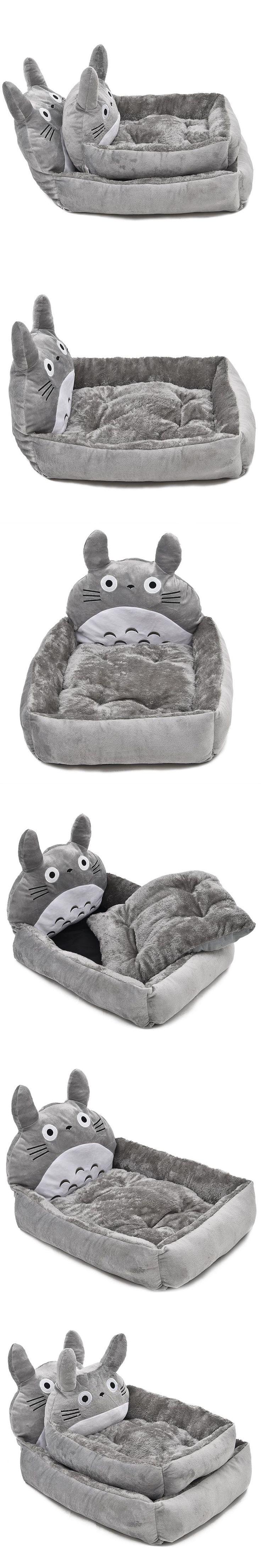 Free Shipping Pet Bed Dog Cat Bed Creative Novel Design Cute Lovely Cartoon Soft Short Fluff Material Pet Cushion