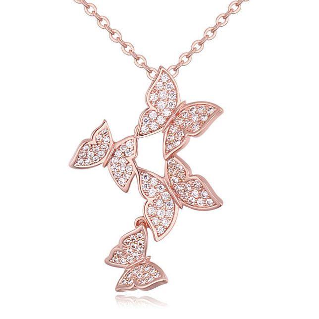 Шарм ожерелье медный сплав ожерелье бабочка neckles ювелирные изделия оптовая продажа от alibaba китай-Ожерелья-ID товара::60270909439-russian.alibaba.com