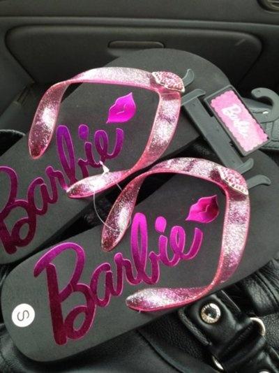 Barbie Flip Flops<3 Cute ..